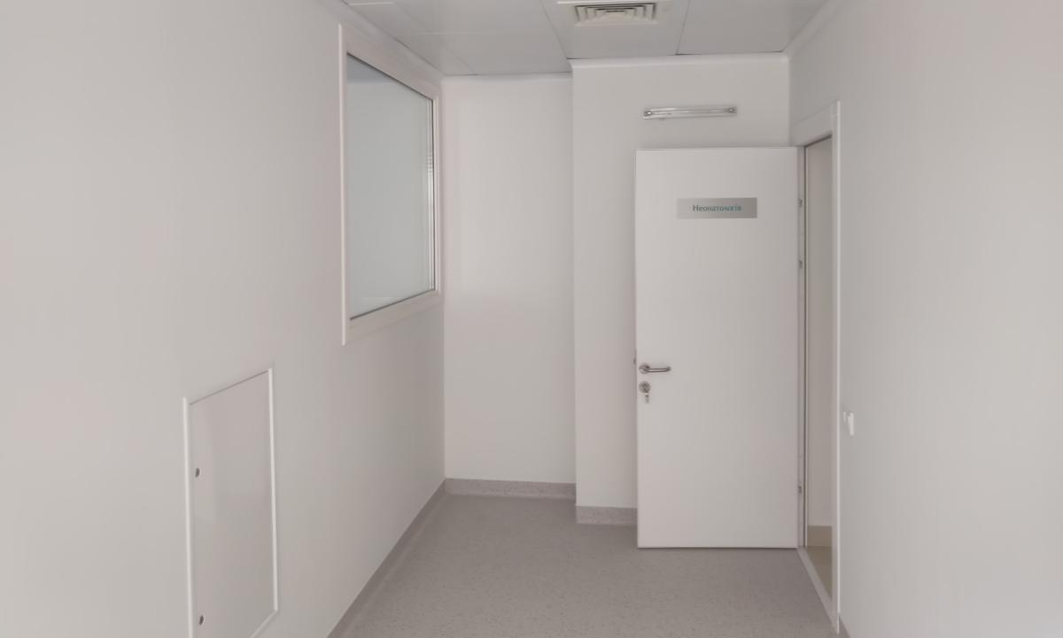 розпашні герметичні двері для чистих приміщень