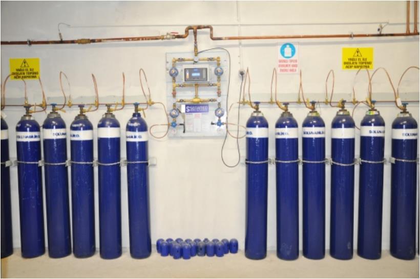 Рампы для газовых баллонов медицинские